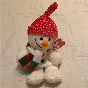 Vintage authentic Ty freezie the snowman beanie